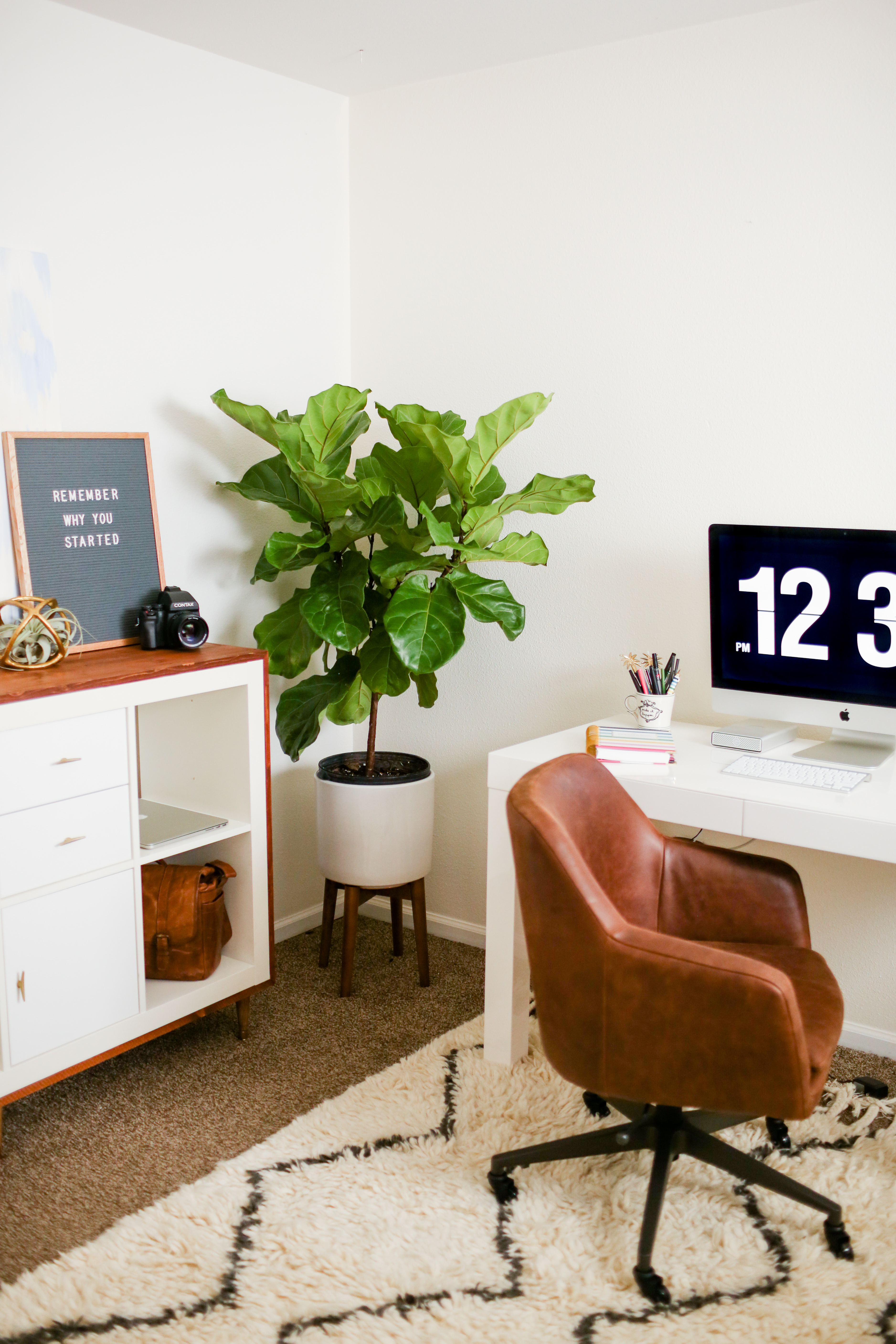 Mid Century Modern Ikea Hack For My Office – Brianna Venzke